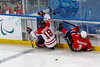 Sledge hockey, Canada vs Norway, 2010 Paralympics, Vancouver BC, March 16, 2010. Canada wins 5-0.