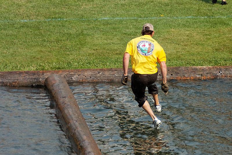 Chokerman's race, Squamish Days Novice & Intermediate Logger Sports, Al McIntosh Loggers Sports Grounds, Squamish BC, July 31, 2010.