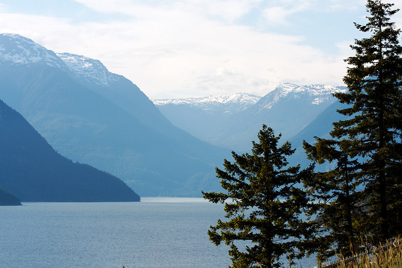 View from Tunnel Point, Sea to Sky Highway, BC, June 12, 2010.