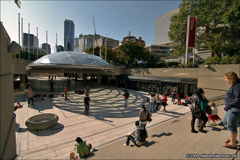 Robson Square, Vancouver BC, October 3, 2009