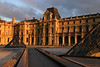 More Louvre geometry at sunset.