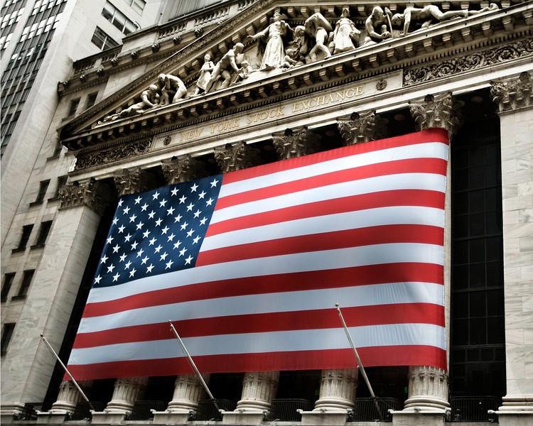 US FLAG on Wall Street