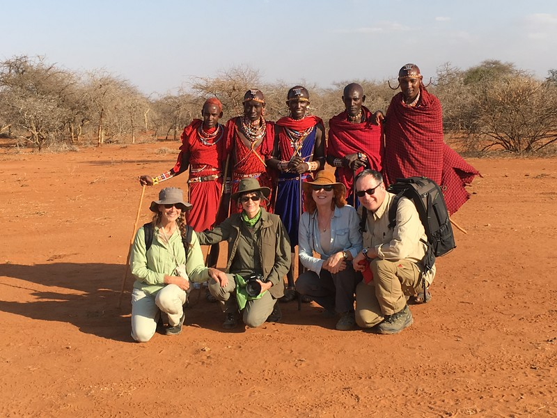 These Masai warriors led us to their village late in the afternoon on our first day.  Masai's are famous for their tall, lean bodies.