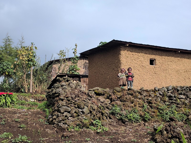 Once the groups were assigned, we were transported to the appropriate starting points and off we went.  The hikes led us up through agricultural villages such as this one until we reached the national park boundary.