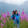 That's Sami.  For sure, the fireweed was way taller than me, so navigating was interesting :)