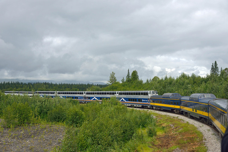 We arrived at the park entrance and boarded this train for the 7-hour trip back to Anchorage.