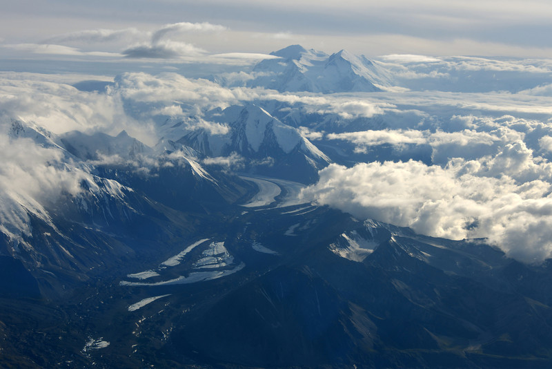 That's Denali in the distance.