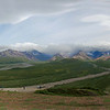 5-photo panorama taken from the Denali Visitor Center.