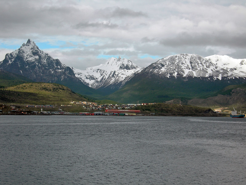 Ushuaia as ship is pulling away
