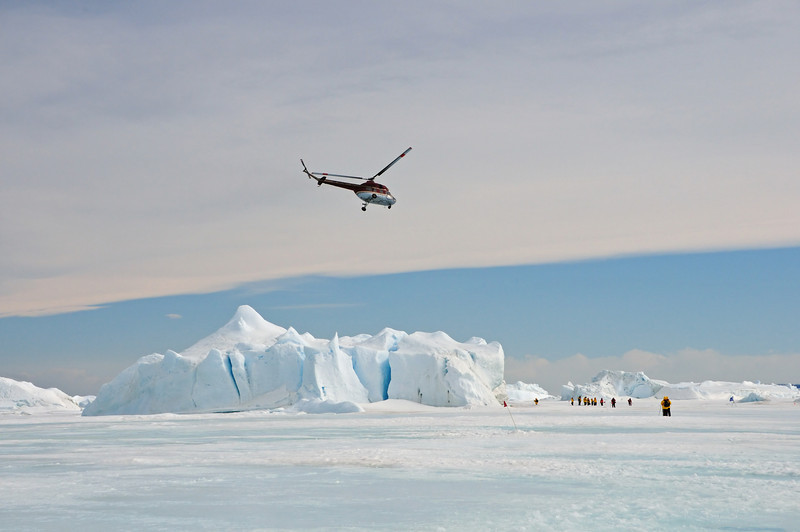 When we boarded this helicopter, I knew it was the last time any of us would see the awesome sights of Snow Hill Island.