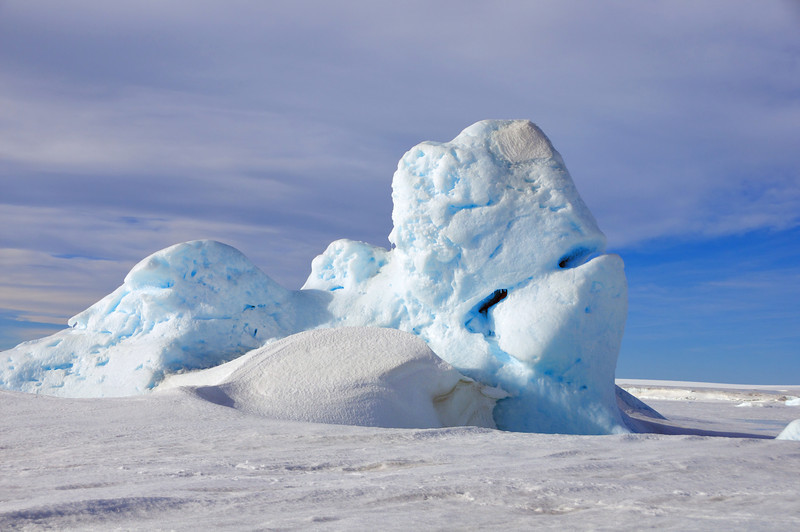 Aside from the penguins, it seems everything in Antarctica is huge, dramatic, and some shade of blue.
