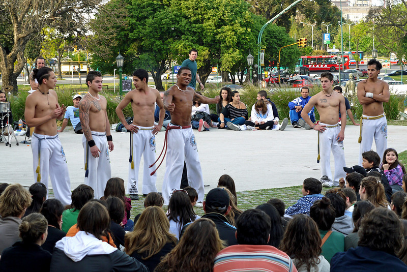 These gentleman got my attention :-)  Not sure what David was doing, but I stayed put until they finished performing.