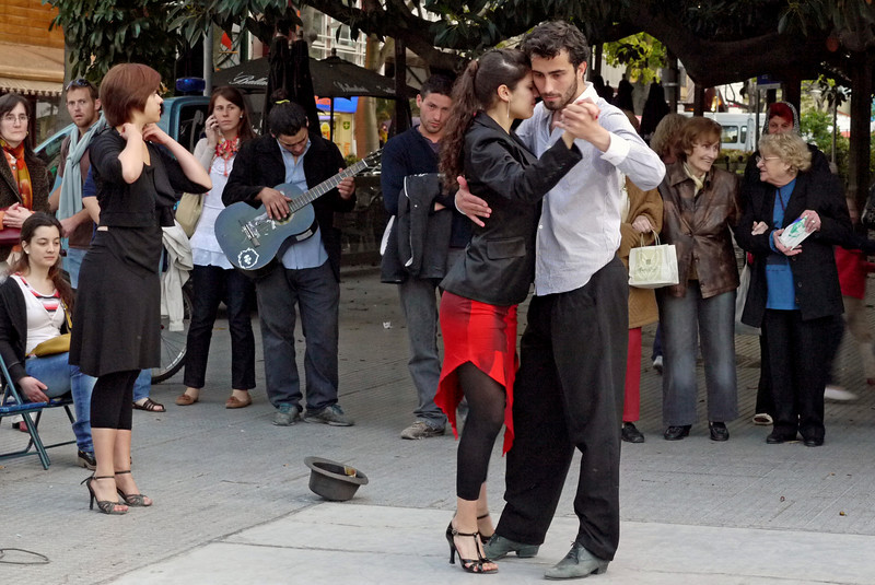 There were several bands and individual musicians playing and lots of tango dancing going on.
