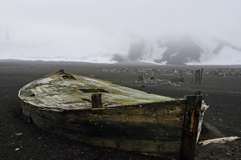 Deception Island was a favorite harbor for whalers and sealers.