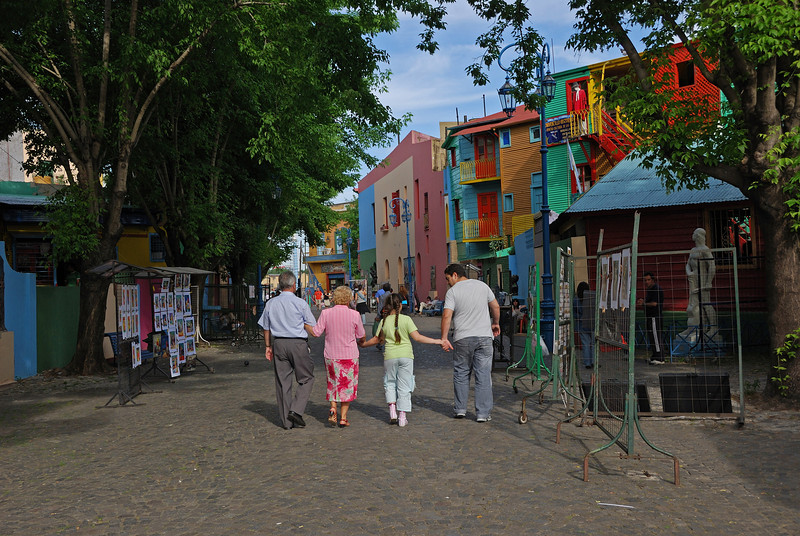 Buenos Aires has a huge Italian population.  The old Italian district is lively and brightly colored.