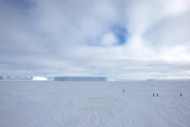 This photo provides some idea of scale.  Antarctica is immense.