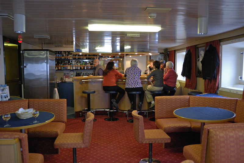 The bar.  This place got quite popular as the weather forced us to stay on the ship.