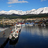 We docked in Ushuaia around 3:00 AM and awoke to this spectacular sight.