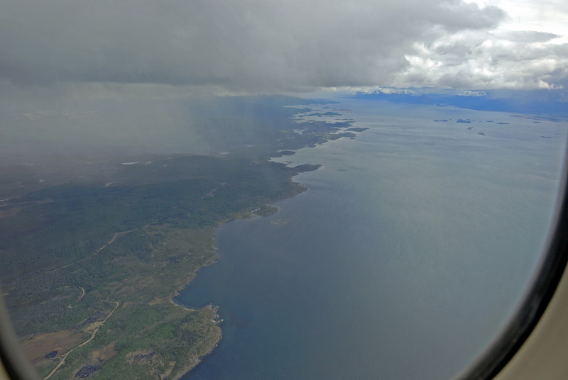 The next morning we flew to Ushuaia, Argentina, which is at the very tip of South America.  This is the approach into Ushuaia.  All boats going to the Antarctic Peninsula depart from Ushuaia.