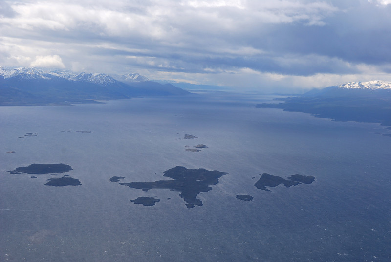 Beagle Channel from the air as we leave Ushuaia.