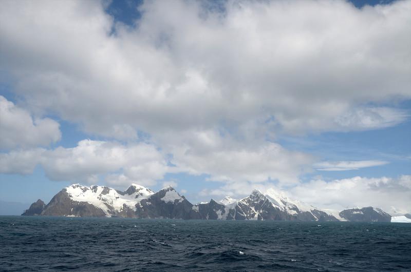 Approaching Elephant Island.