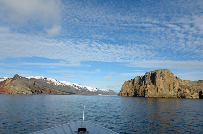 The only entrance to the caldera is named Neptune's Bellows.  Almost no one sees sun on Deception Island.  Have I mentioned we were lucky with the weather?