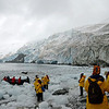 After a few hours on land, David and I waded through the icy water to board our zodiak.
