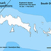 The South Orkneys, part of the British Antarctic Territories, are a group of islands in the Southern Ocean about 375 miles northeast of the Antarctic Peninsula.