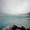 On the way out to the open ocean, we made one last stop on South Georgia at Drygalski Fjord.  It was mostly foggy for the sail in, but when we got to this beautiful glacier at the end of the fjord, the skies began to clear.