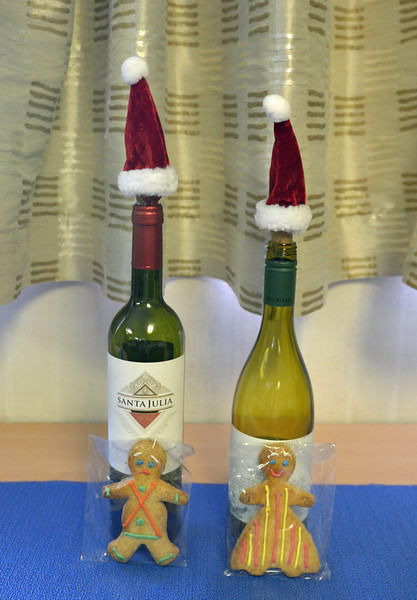 It was Christmas Eve and the Ortelius crew passed out cookies.  We supplied our own wine and Santa caps :-)