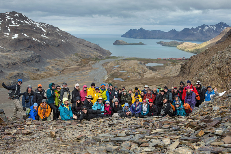 In mid-afternoon, a hike was led from Fortuna Bay to Sromness, a former whaling station. The route follows the last 3.3 miles of Ernest Shackleton's epic self-rescue.