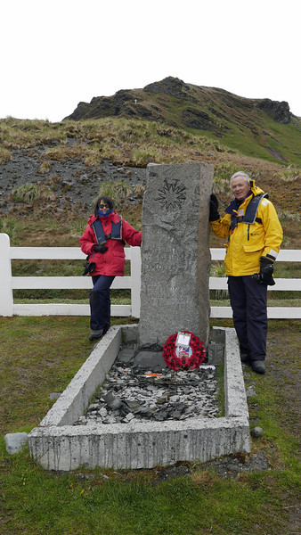 Shackleton's grave.