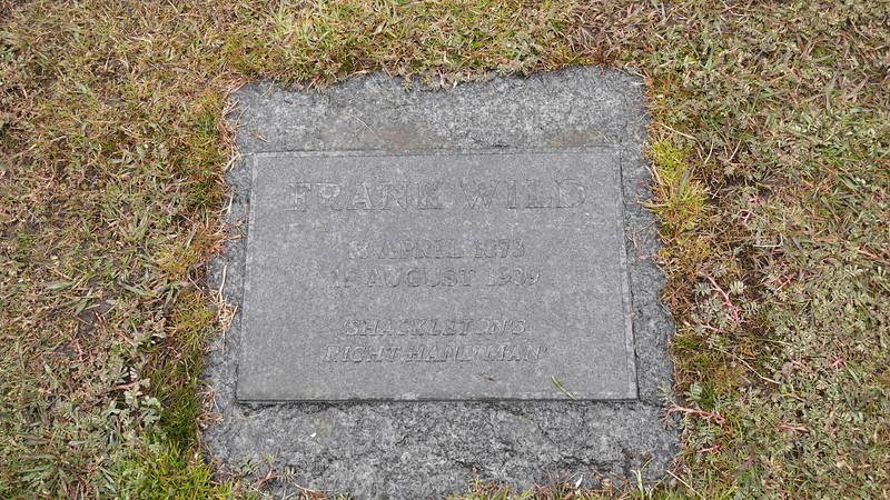 Frank Wild was second in command to Shackleton. His ashes were moved to Grytviken in 2011 to be buried right next to Shackleton's grave.