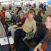 At SFO, my travel companions:  from the top - Joan, Janice and Sheri.