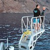 That's Ted and Scott, our leaders, standing on one of the two tuna platforms at the back of the boat.