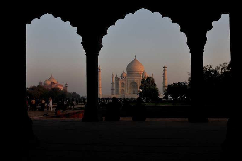 Everything you've ever heard or imagined about the Taj Mahal is true.  It's beauty is overwhelming, especially as the sunrise casts a pink glow over the white marble.