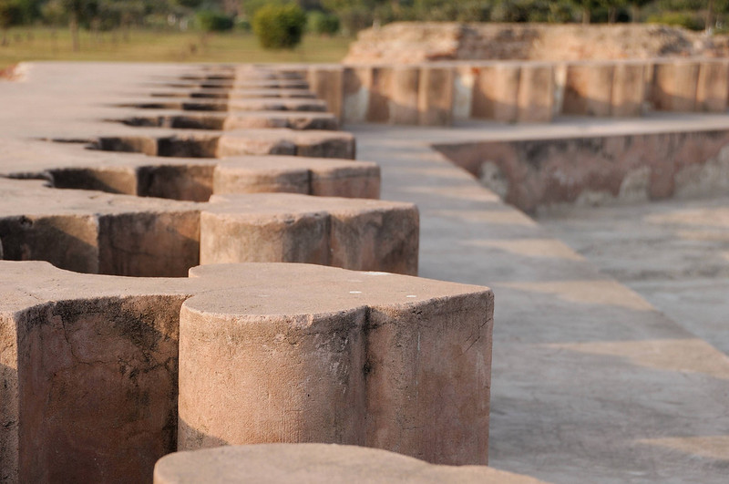 Near the river bank are the ruins of an unfinished temple.  These were the seats at the communal bathing pool.