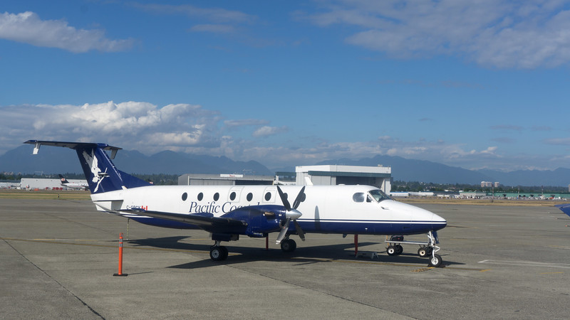 Janice and I headed for Knight Inlet in mid-August, 2017.  It's a remote haven known for big brown bears (grizzlies on steroids).  To get there, we flew to Vancouver BC and then boarded this plane for the short flight to Campbell River, a small town on the northeast coast of Vancouver Island.  <br /> <br /> (The last entry in this journal is a brief video clip which proves the point that it's next to impossible to shoot video from a moving boat.)
