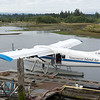 We had a nice dinner in Campbell River at a seaside restaurant, and a peaceful night in our hotel.  The next morning, we boarded this plane for the 1-hour flight to Knight Inlet.