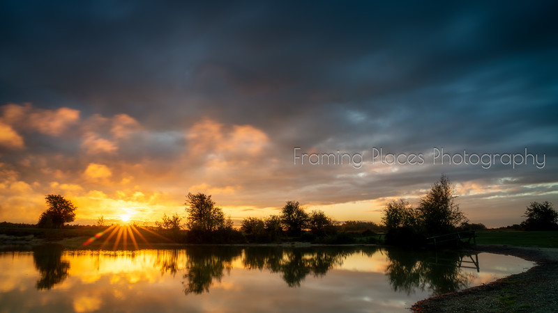 Sunrise Pond Reflection