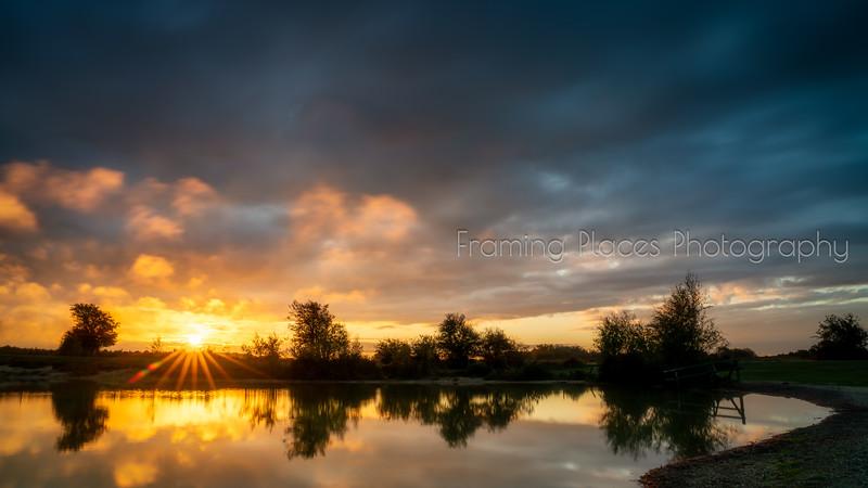 Sunrise Pond Reflection