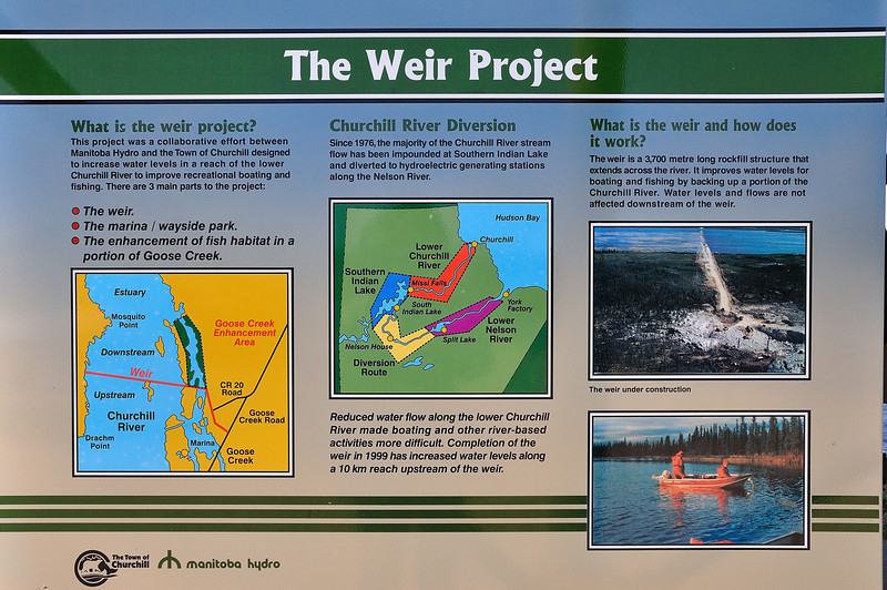 Another one of our activities was a trip far out of town to see the ambitious Weir Project.