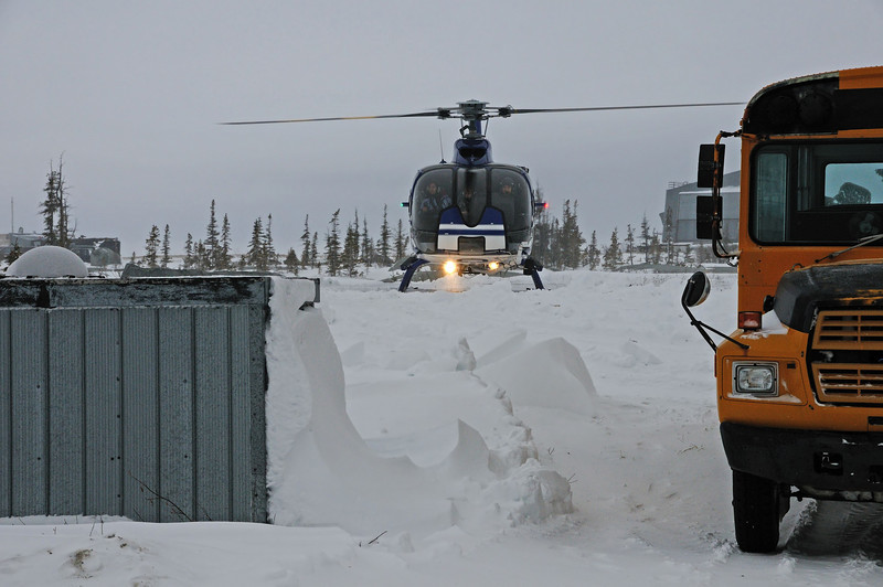 Our first activity was a helicopter tour of Wapusk National Park and the shoreline near Churchill.