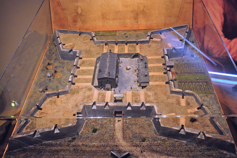 Scale model of Churchill Fort.