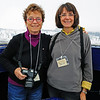 My dear friend Joan joined me for the polar bear adventure in November, 2008.  In 2007, Joan and I went to Snow Hill Island in Antarctica to see the emperor penguins so we knew we could survive just about anything.  Here, we've climbed up to the viewing dome at the research center.