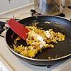 eggs on the mini stove