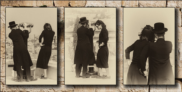 Opposites attract - Triptych -Young Chassidishe couple-2