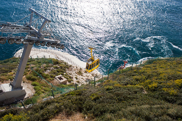 Steepest cable car in the world - to the Rosh Hanikra caves