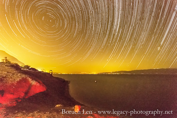 Startrails over the Dead Sea