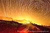 Startrails over the Ein Gedi Mountains